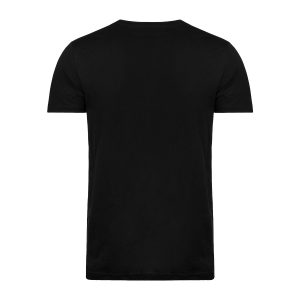 T-SHIRT – SORT MED RUND HALS